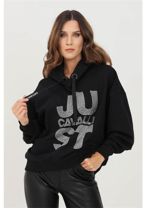 Black women's hoodie by just cavalli  JUST CAVALLI | Sweatshirt | S04GC0126900