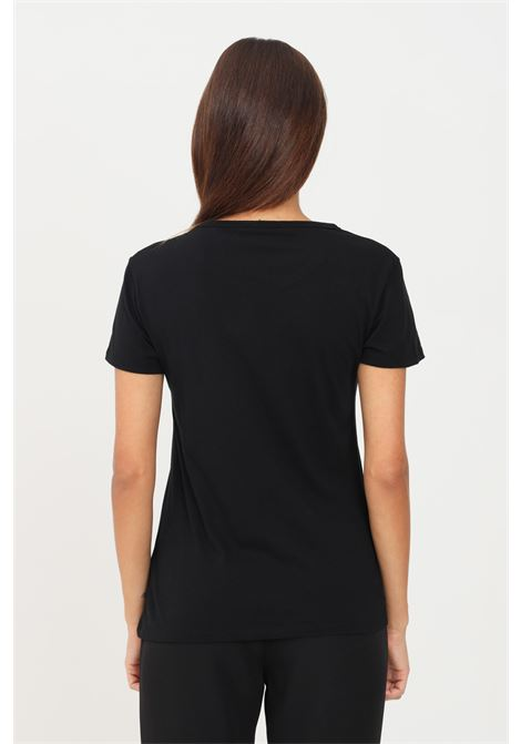 Black women's t-shirt by just cavalli with print on the front short sleeve JUST CAVALLI | T-shirt | S04GC0402900
