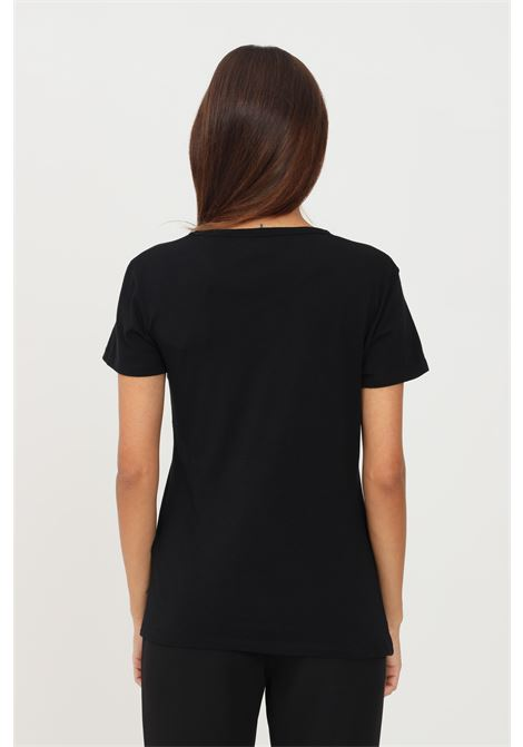 Black women's t-shirt by just cavalli with front print short sleeve JUST CAVALLI | T-shirt | S04GC0409900