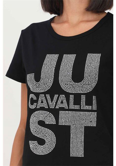 Black women's t-shirt by just cavalli, short sleeve JUST CAVALLI | T-shirt | S04GC0410900