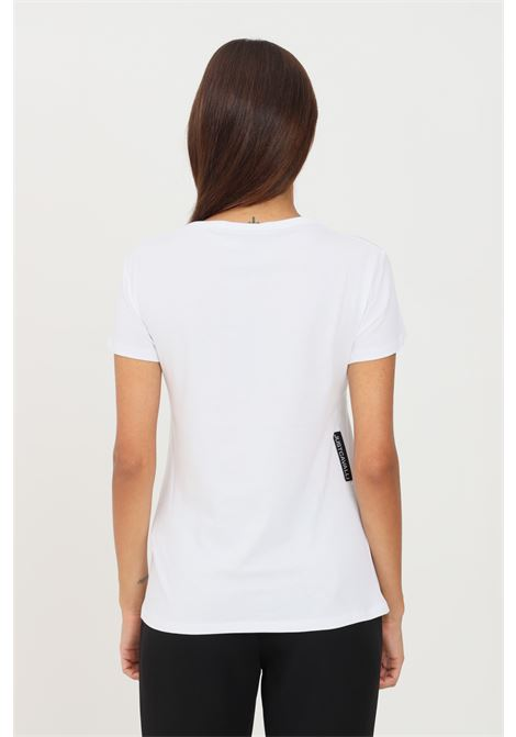 White women's t-shirt by just cavalli with front logo short sleeve JUST CAVALLI | T-shirt | S04GC0414100