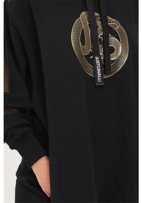 Black dress by just cavalli short cut with hood JUST CAVALLI | Dress | S04GU0124900