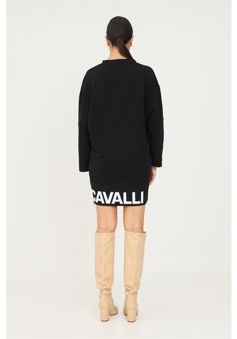 Black dress by just cavalli with contrasting logo on the bottom JUST CAVALLI | Dress | S04GU0129900