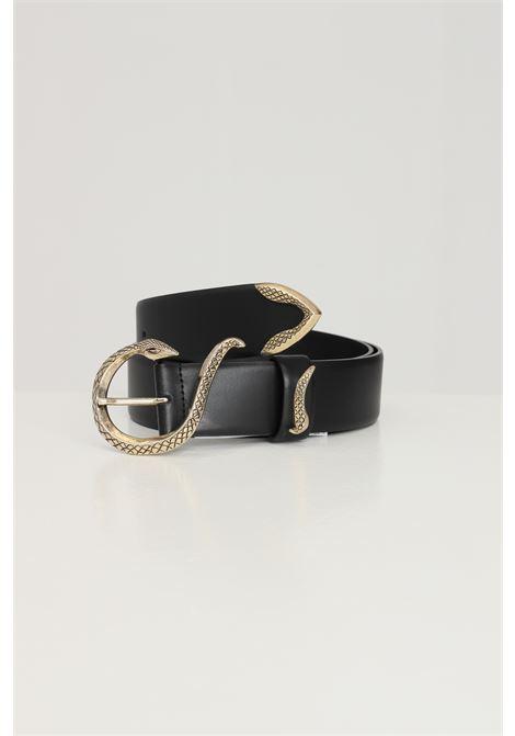 Black women's belt with gold logo just cavalli JUST CAVALLI | Belt | S07TP0168900