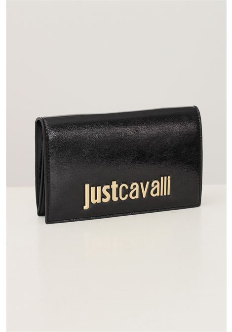 Black women's clutch bag by just cavalli with removable chain shoulder strap JUST CAVALLI | Bag | S11WD0134900