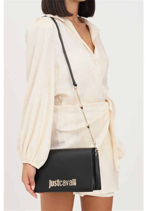 Black women's bag by just cavalli with removable and adjustable shoulder strap JUST CAVALLI | Bag | S11WG0224900