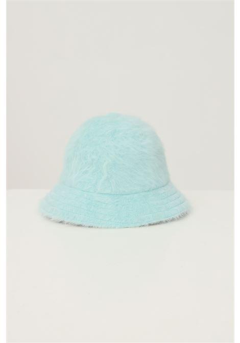 Bucket 507 donna azzurro kangol con ricamo logo a contrasto KANGOL | Cappelli | K3017STBT434