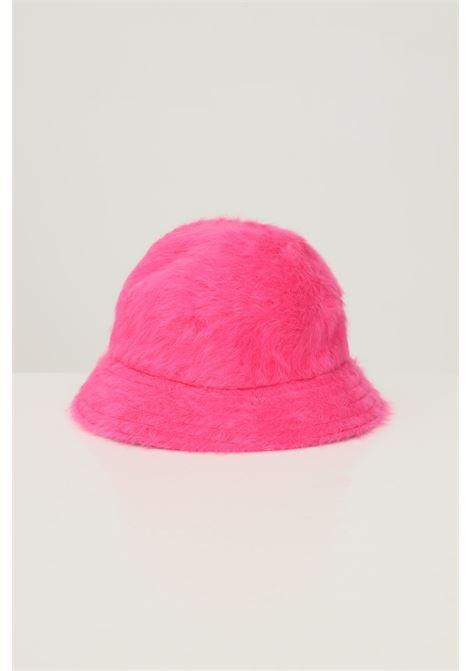 Fuchsia women's 507 bucket by kangol with contrasting logo embroidery KANGOL | Hat | K3017STEP600