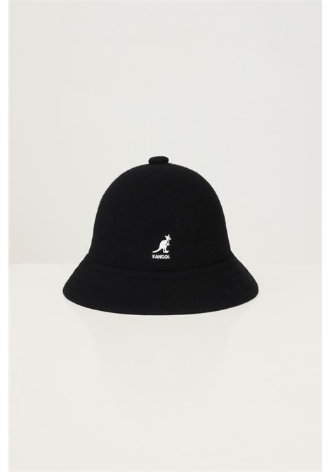 Black unisex bucket by kangol in solid color with embroidered logo in contrast KANGOL | Hat | K3451BK001