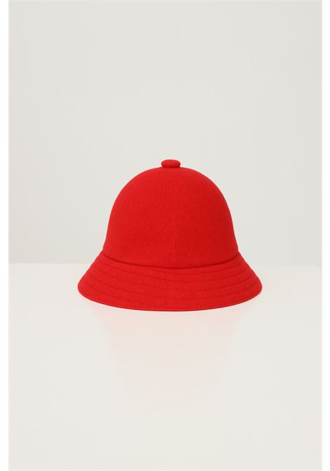 Red unisex bucket by kangol in solid color with embroidered logo in contrast KANGOL | Hat | K3451RD608