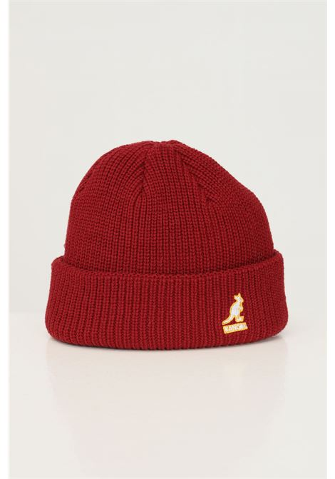 Bordeaux unisex hat by kangol with front logo embroidery in contrast KANGOL | Hat | K3454RV605