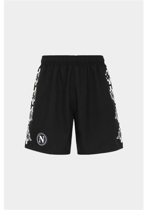 Shorts uomo nero kappa burlon sport KAPPA BURLON COLLECTION | Shorts | 321884WA00