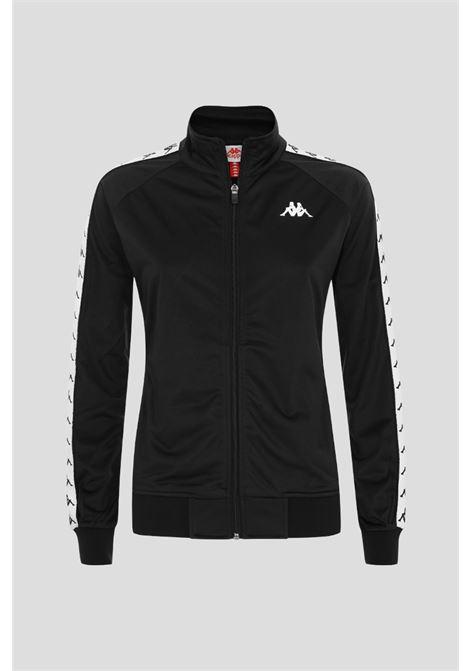 Black baby sweashirt by kappa with side logo bands KAPPA | Sweatshirt | 301PSC0-KC1B