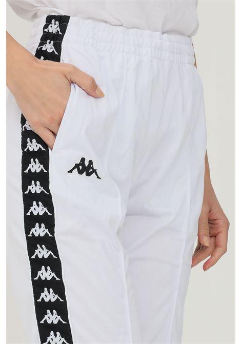 Pantaloni unisex bianco kappa sport con bande logo laterali KAPPA   Pantaloni   303KUC0922