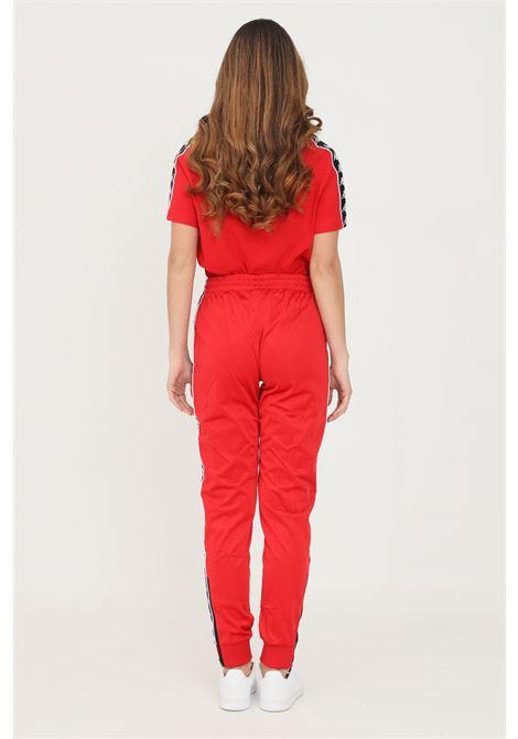 Pantaloni unisex rosso kappa sport con bande logo laterali KAPPA   Pantaloni   303KUC0A0E