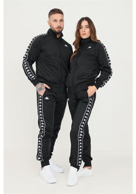 Pantaloni unisex nero kappa sport con bande logo laterali KAPPA   Pantaloni   303KUC0A24