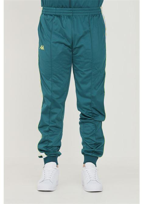 Pantaloni unisex verde kappa sport con bande logo laterali KAPPA   Pantaloni   303KUC0A5F