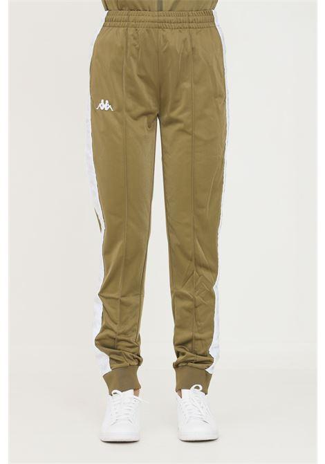 Pantaloni unisex verde kappa sport con bande logo laterali KAPPA   Pantaloni   303KUC0BX2