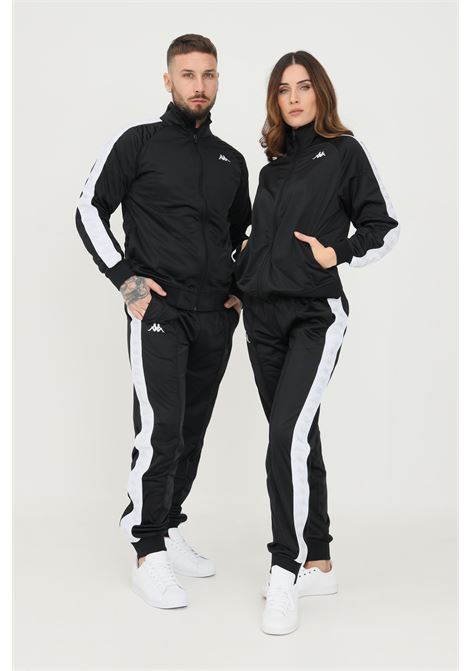 Pantaloni unisex nero kappa sport con bande logo laterali KAPPA   Pantaloni   303KUC0BX9