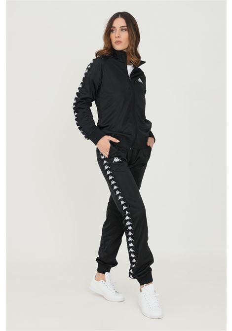Pantaloni donna nero kappa con bande logo laterali KAPPA | Pantaloni | 303R5K0C1B