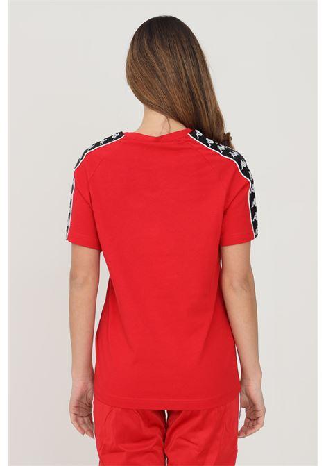 T-shirt unisex rosso kappa a manica corta con applicazione logo frontale KAPPA   T-shirt   303UV10C00