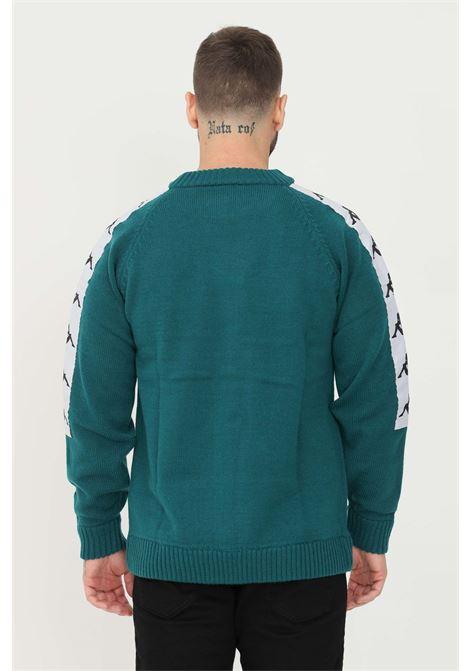Maglione unisex ottanio kappa girocollo con applicazione banda logo sulle maniche KAPPA   Maglieria   304N1C0BX2