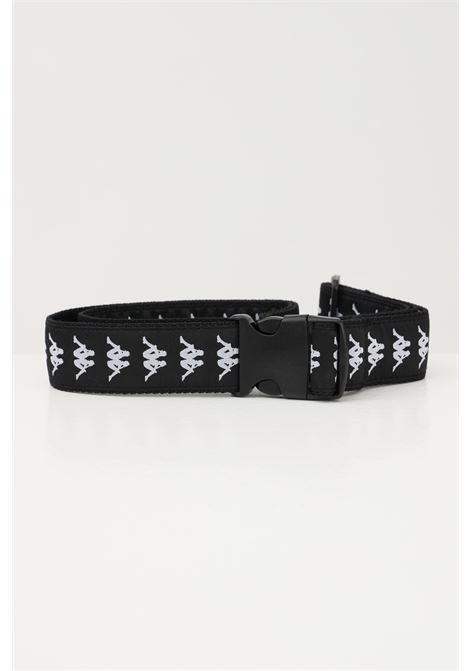 Black unisex belt with allover contrasting logo kappa  KAPPA | Belt | 3111Y2WANG