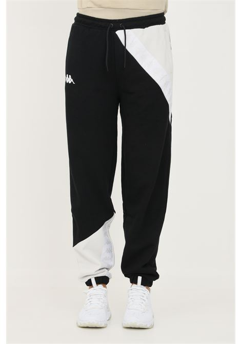 Pantaloni unisex nero kappa con banda logo a contrasto KAPPA   Pantaloni   311BHDWBX7