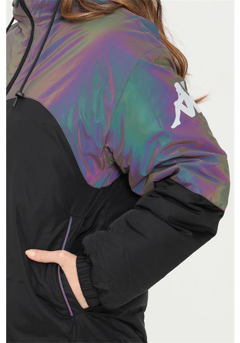 Piumino unisex nero kappa con cappuccio chiusura frontale con zip KAPPA   Giubbotti   311CI5WA01