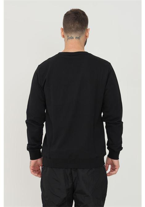 Felpa unisex nero kappa girocollo con logo silver frontale KAPPA   Felpe   311CIGWA01