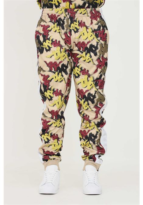 Pantaloni unisex a fantasia kappa con banda logo laterale KAPPA   Pantaloni   321374WBAX