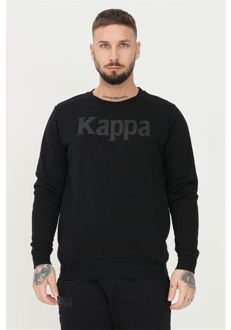 Felpa unisex nero kappa girocollo con maxi applicazione logo frontale KAPPA | Felpe | 32147ZW005