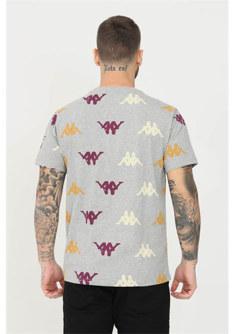 T-shirt unisex grigio kappa a manica corta con stampa logo pattern KAPPA   T-shirt   33111PW77M