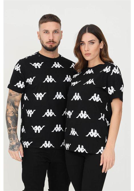T-shirt unisex nero kappa a manica corta con stampa logo pattern KAPPA   T-shirt   33111PWA33