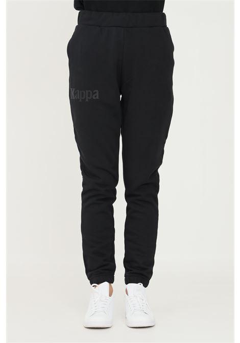 Pantaloni unisex nero kappa con applicazione logo KAPPA | Pantaloni | 331164WA2O
