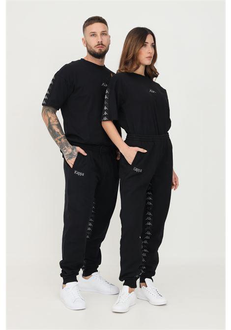 Pantaloni unisex nero kappa con bande logo KAPPA   Pantaloni   34157SW005