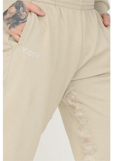 Pantaloni unisex beige kappa con bande logo KAPPA | Pantaloni | 34157SWXPY
