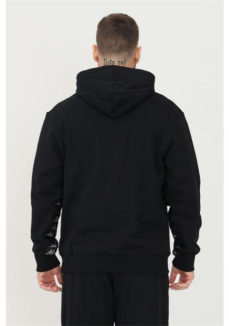 Felpa unisex nero kappa con cappuccio e banda logo laterale KAPPA | Felpe | 361539W005