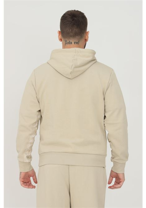 Felpa unisex beige kappa con cappuccio e banda logo laterale KAPPA | Felpe | 361539WXPY