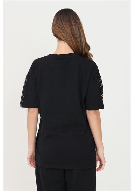 T-shirt unisex nero kappa con banda logo sulla maniche KAPPA   T-shirt   361585W005