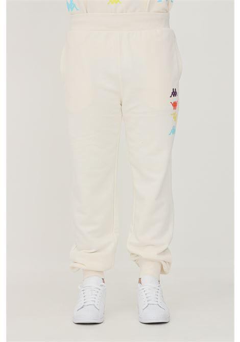 Pantaloni unisex panna kappa modello sport con logo profilo multicolor KAPPA   Pantaloni   38197VWDKK