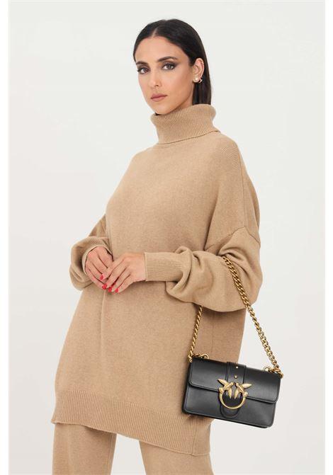 Maglioncino donna orzo kontatto modello over a collo alto KONTATTO | Maglieria | 3M8359ORZO