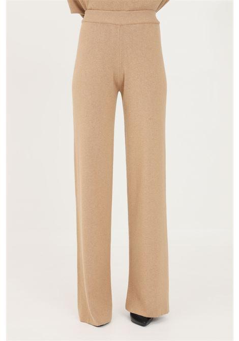 Pantaloni donna orzo kontatto casual a vita alta KONTATTO | Pantaloni | 3M8360ORZO