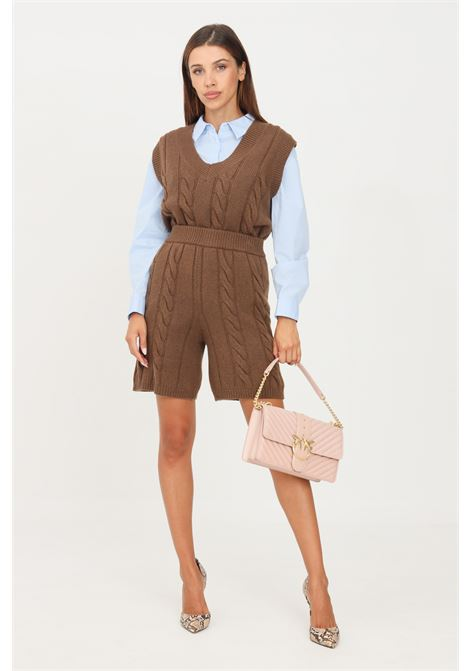 Coffee women's shorts by kontatto casual model KONTATTO | Shorts | 3M8369CAFFÈ