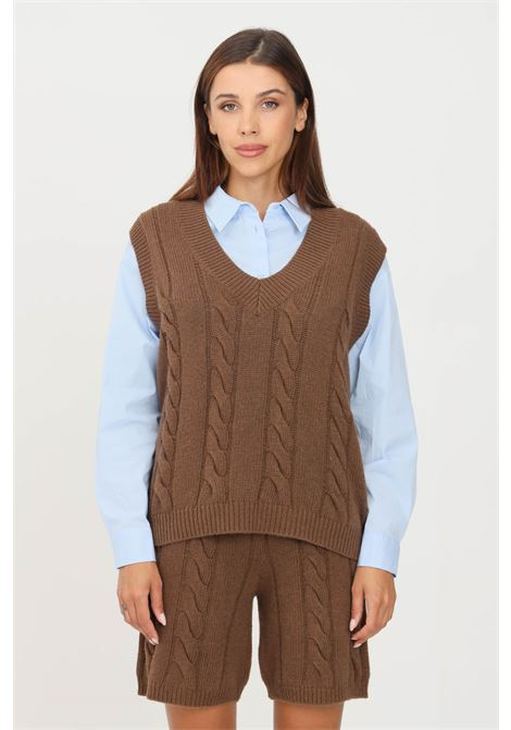 Knitted vest by kontatto KONTATTO | Gilet | 3M8370CAFFÈ