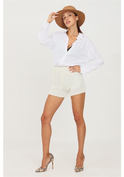 Shorts donna latte kontatto modello casual KONTATTO | Shorts | 3M8382LATTE