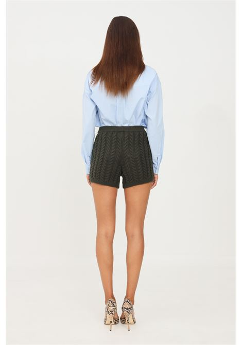 Shorts donna verde kontatto modello casual KONTATTO | Shorts | 3M8382MUSCHIO