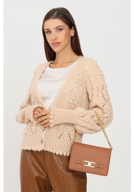 Cardigan donna beige kontatto con bottoni gioiello KONTATTO | Cardigan | 3M8416ECRU