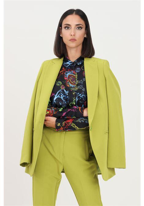 Green women's jacket by kontatto, front closure with button KONTATTO | Blazer | CO405PISTACCHIO