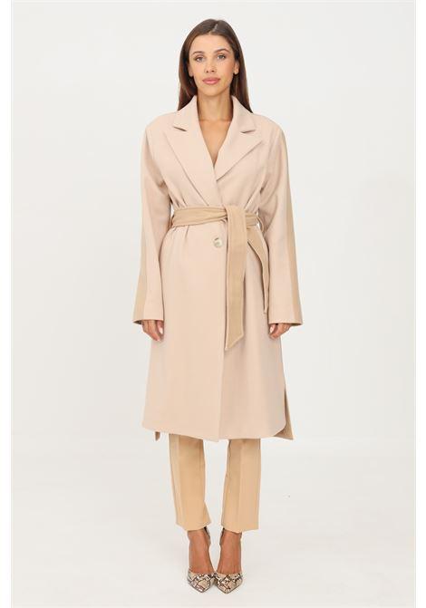Two-tone women's coat by kontatto long cut KONTATTO | Coat | NO103BICOLORE